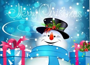 Desktop Wallpaper: Merry Christmas Snow...