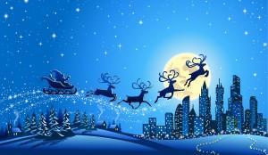 Desktop Wallpaper: Silhouette Of Reinde...