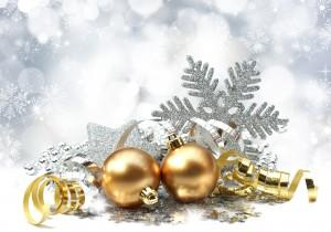 Desktop Wallpaper: Golden Christmas Bau...