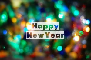 Desktop Wallpaper: Happy New Year Text