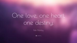 Desktop Wallpaper: One Love. One Heart....