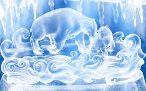 Desktop Wallpaper: Icy Statue