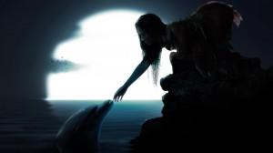 Desktop Wallpaper: Silhouette Of Woman ...