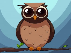 Desktop Wallpaper: Black And Brown Owl ...