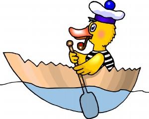 Desktop Wallpaper: Duck In Egg Shell Bo...