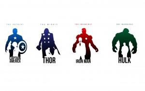 Desktop Wallpaper: Iron Man Silhouette ...