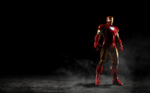 Desktop Wallpaper: Red Gold Action Hero