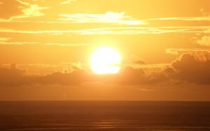 Desktop Wallpaper: Sunset At The Sea