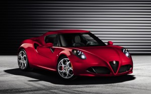 Desktop Wallpaper: Red Alfa Romeo 4c