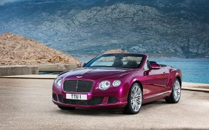 Desktop Wallpaper: Purple Bentley Conve...