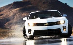 Desktop Wallpaper: White Chevrolet Cama...