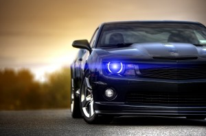 Desktop Wallpaper: Black Chevrolet Cama...