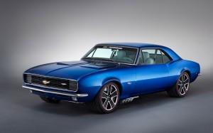 Desktop Wallpaper: Blue Chevrolet Cheve...
