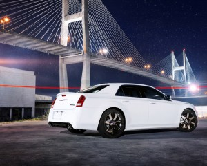 Desktop Wallpaper: White Chrysler Sedan...