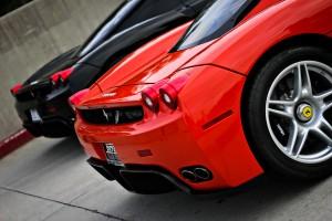 Desktop Wallpaper: Red Ferrari F430 Par...