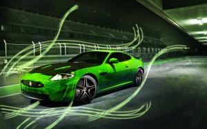 Desktop Wallpaper: Black And Green Spor...