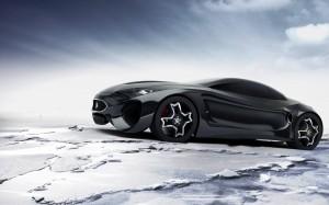 Desktop Wallpaper: Black Muscle Car