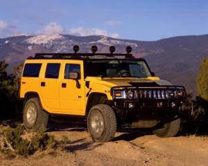 Desktop Wallpaper: Yellow Hummer H2 On ...