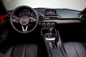 Desktop Wallpaper: Black Mazda Interior