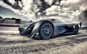 Desktop Wallpaper: Grey Sports Coupe