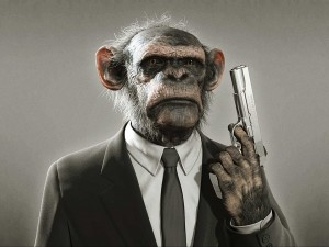Desktop Wallpaper: Monkey In Suit Chara...