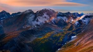 Desktop Wallpaper: Snow Capped Mountain...