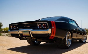 Desktop Wallpaper: Black Chevrolet Clas...