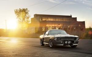 Desktop Wallpaper: Grey Car On The Road...