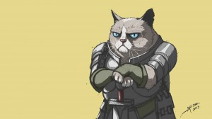 Desktop Wallpaper: Grumpy Cat In Armour
