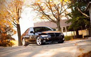 Desktop Wallpaper: Black BMW 3 Series C...