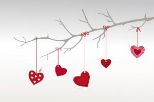 Desktop Wallpaper: Illustration Red Hea...