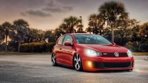Desktop Wallpaper: Red Volkswagen Golf ...