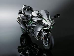 Desktop Wallpaper: Gray Motorcycle