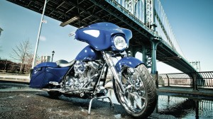 Desktop Wallpaper: Blue Cruiser Bike