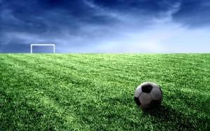 Desktop Wallpaper: Football Ball On The...