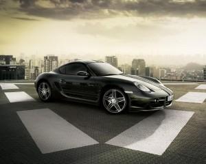 Desktop Wallpaper: Black Porsche Car In...