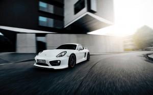 Desktop Wallpaper: White Porsche Cayman
