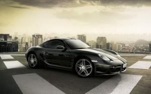 Desktop Wallpaper: Black Porsche Car On...