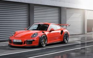 Desktop Wallpaper: Orange Porsche 911 T...