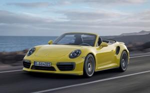 Desktop Wallpaper: Yellow Porsche Boxst...