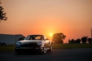 Desktop Wallpaper: Black Porsche 911 On...