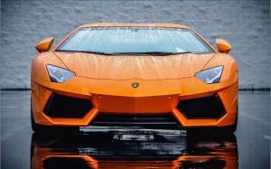 Desktop Wallpaper: Orange Lamborghini S...