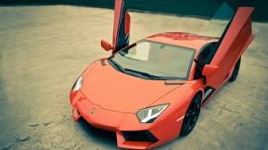 Desktop Wallpaper: Red Lamborghini Aven...