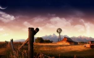 Desktop Wallpaper: Brown Wooden Barn  U...