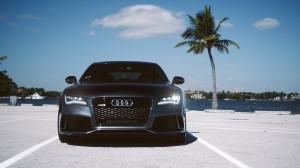 Desktop Wallpaper: Black Audi RS7
