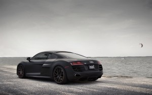 Desktop Wallpaper: Black Audi R8