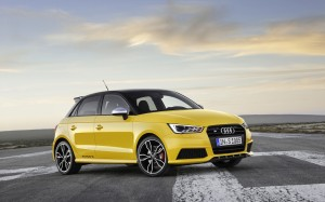 Desktop Wallpaper: Yellow Audi S1 Sport...