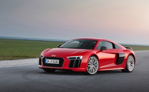 Desktop Wallpaper: Red Audio R8 On Road...