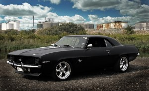 Desktop Wallpaper: Black Ford Mustang O...