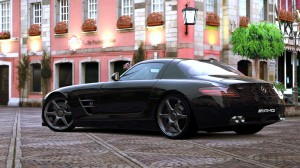 Desktop Wallpaper: Mercedes Benz SLS Bl...